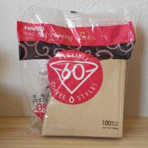 ハリオV60用ペーパーフィルター02(1~4人用)<br>440円
