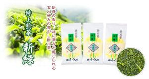 〔お中元〕特上煎茶新緑 100g×1本<br>1,296円